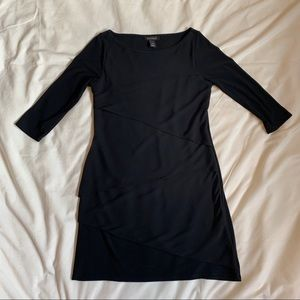WHBM Black Tiered Layers Dress Size Small